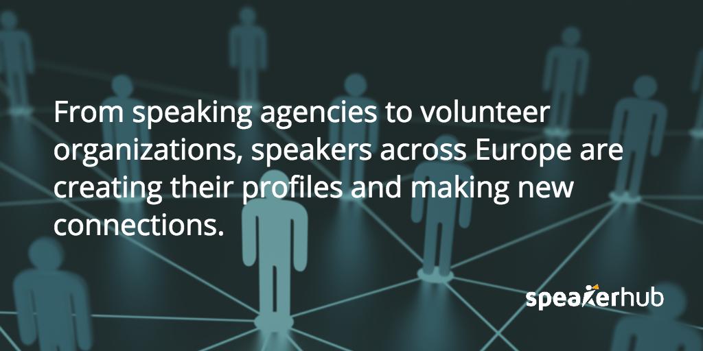SpeakerHub Quote: SpeakerHub is the future of online speaker networking in Europe.