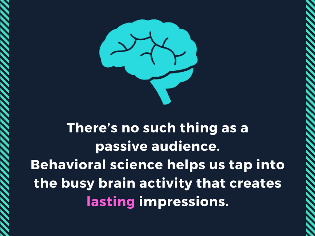 there's no such thing as a passive audience