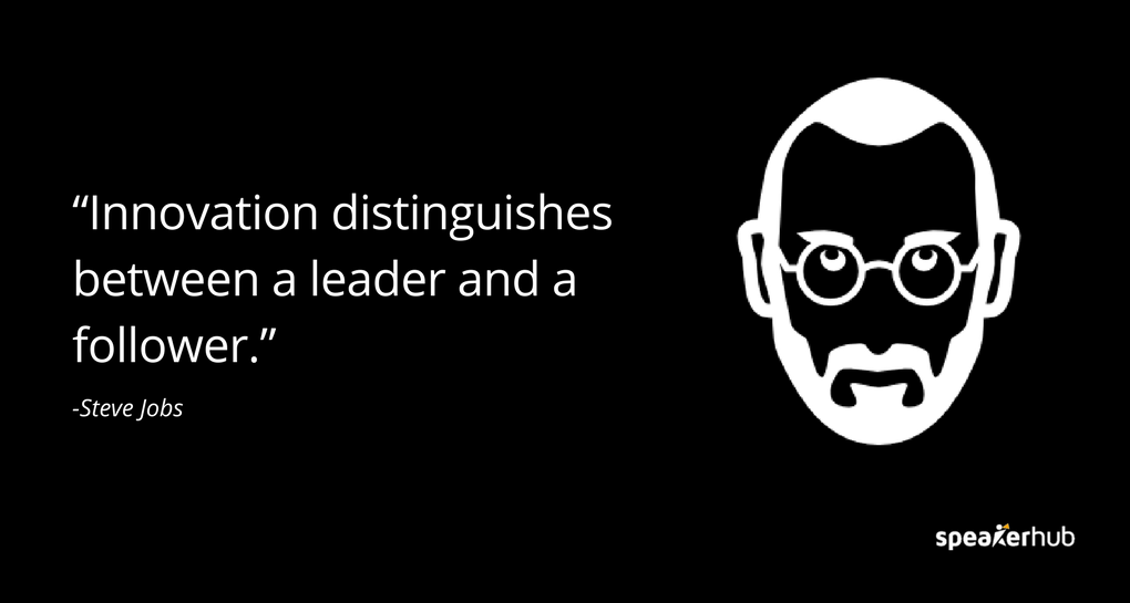 innovation distinguishes between a leader and a follower Stickers innovation distinguishes between a leader and a follower de kollori est vendu sur la boutique kolloricom dans la catégorie stickers de bureau.