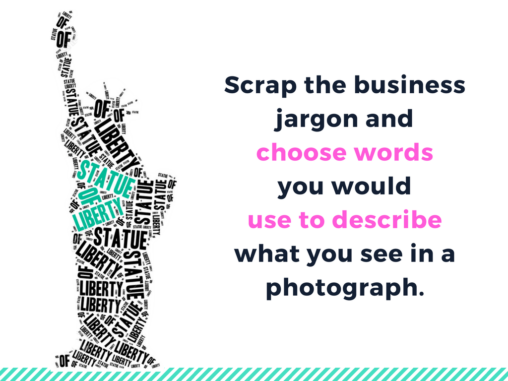 scrap the business jargon