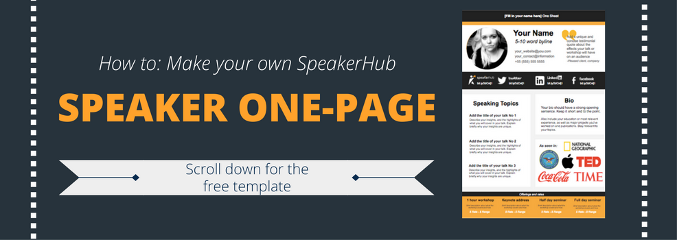 speaker one sheet template | speakerhub, Presentation templates