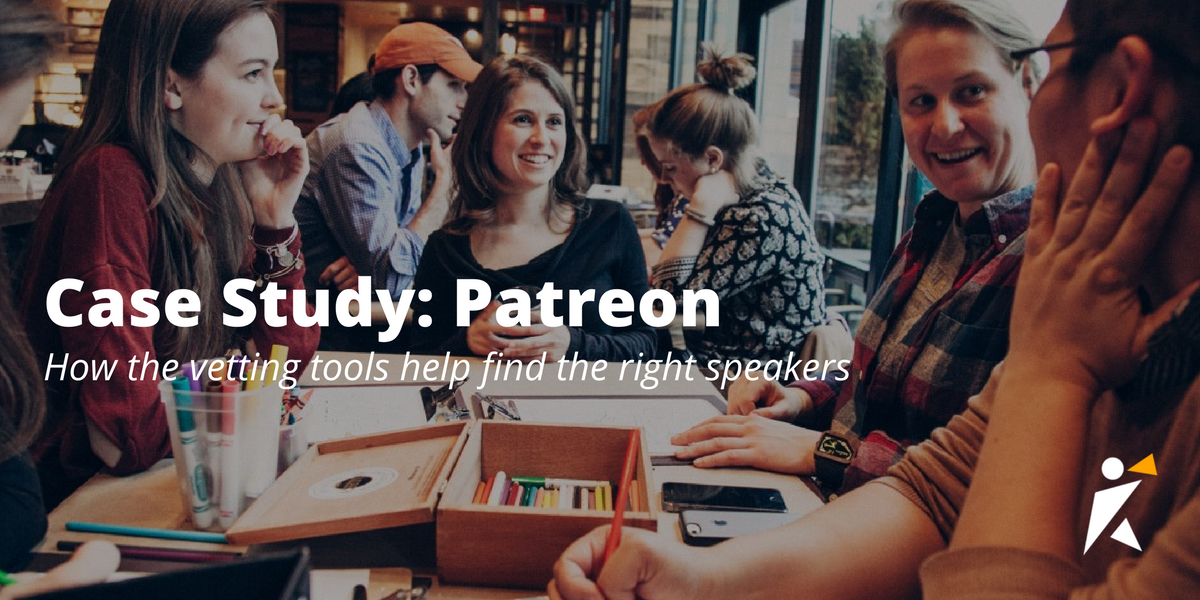 Patreon Case Study: How the vetting tools help find the right speakers