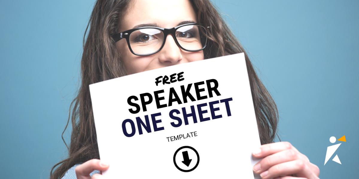 Speaker One Sheet Template | SpeakerHub - photo#31