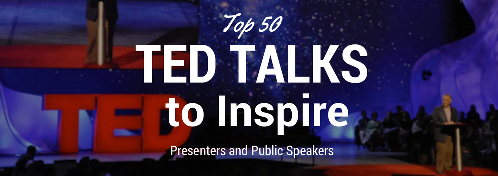 "Blog Article by SpeakerHub: ""Top 50 TED Talks every speaker should watch"""