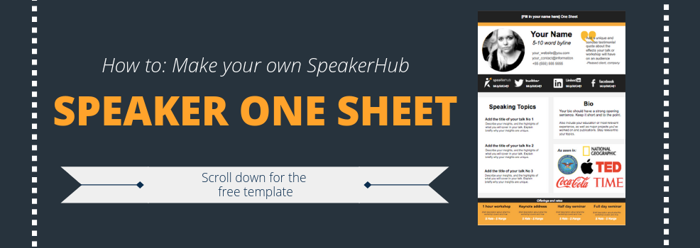 Speaker One Sheet Template Speakerhub