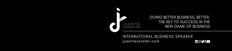 Juanita Vorster's cover banner