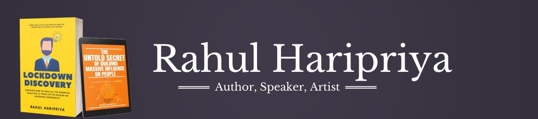 Rahul Haripriya's cover banner