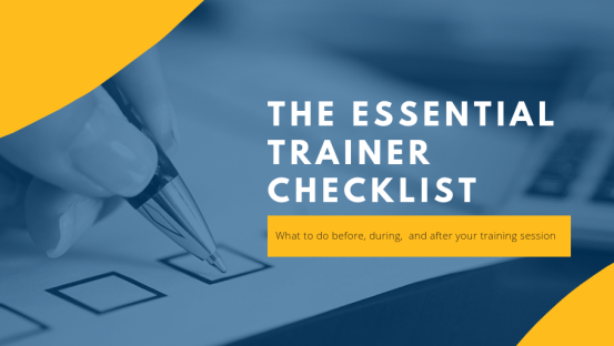 The Essential Trainer Checklist  What to do and pack before and after your training session
