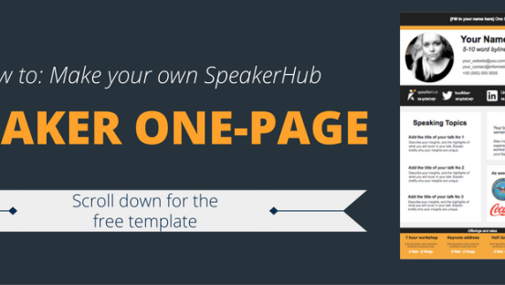 Speaker One Sheet Template