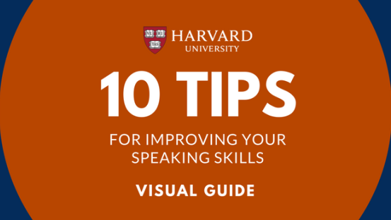 10 Tips to be a great speaker  [Visual Guide]