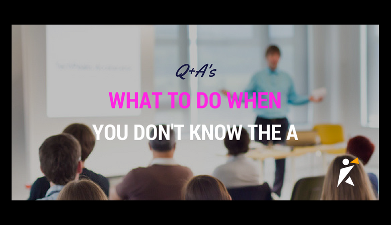 Q+As: What to do when you don't know the A