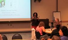 Shirley George Frazier speaking at Raritan Valley Community College