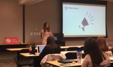 Sara Jackson Helping IABC Cincinnati Members Use Their Voice