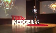 Karl Lillrud speaking at TEDx KedgeBS