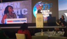 Alex Okoroji speaking at WEF, India