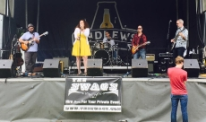 Singing lead in a rock band has taught me how to engage crowds and have fun!