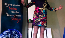 On Stage at Global Influence Summit, San