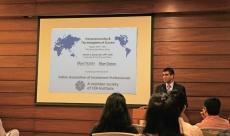 Sameer speaks at CFA India