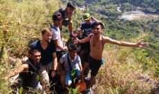 Adventure therapy on Mt Binacayan