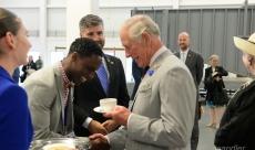 Daniel Serves HRH - Prince Charles