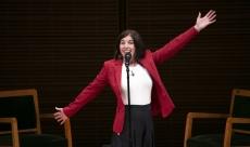 Linda speaking at Carnegie Hall