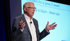 Glenn presenting at a conference.