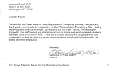 Queen Anne's County Letter of Appreciation