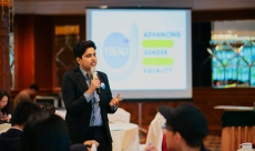 Speaking to the participants at the YSEALI Gender Equality Initiative program in Brunei